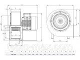 Фото  2 Вентилятор OBR 200 M-2K для промышленных твердотопливных котлов 2629732