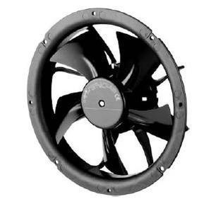 Вентилятор осевой в стеновом кольце W1G200-CH77-52 (V), 55 Вт, 24 В, IP42, 0-10 В, ШИМ.