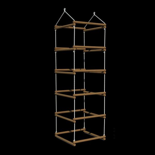 """Веревочная лестница-труба """"Каспер"""", ясень, натуральный цвет."""