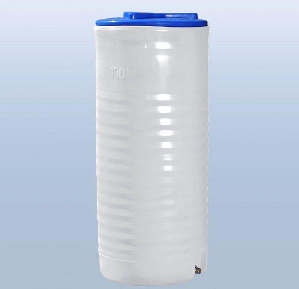 Фото  1 Вертикальная узкая емкость 100 литров бочка пищевая, бак RVО 1985504