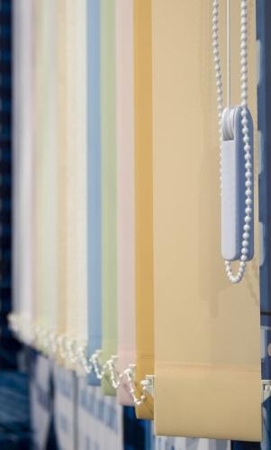 ВЕРТИКАЛЬНЫЕ ЖАЛЮЗИ 89мм - изготовлены из специальной ткани.
