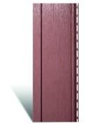 Вертикальный виниловый сайдинг «Quadrohouse» Красно-коричневый