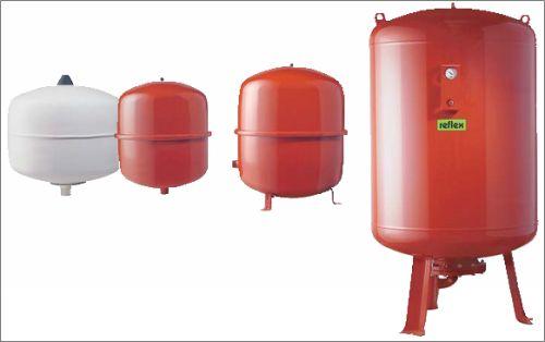 Весь спектр расширительных баков Reflex (Германия) для систем отопления и водоснабжения
