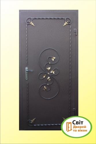 Входные, бронированные двери – с порошковым покрасом