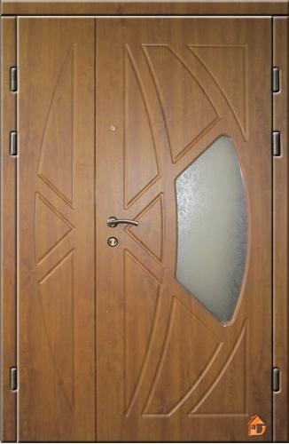 установка входной двери из стекло пакета