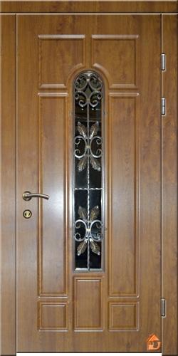 Входные двери 960х2050 со стеклопакетом и ковкой