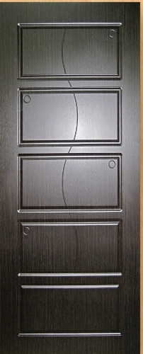 Входные двери Fortress Модель OPTIMA-CT 28, Размер 860х2050, навесы правые Цвет Тиковое дерево, 2 замка глазок