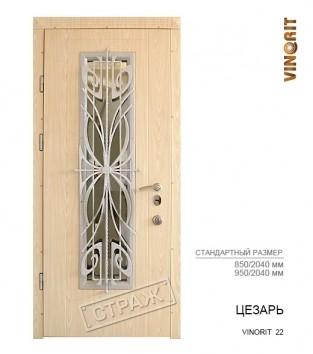 """Входные двери """"Страж"""" LATTISE. Модель Цезарь vinorit 22."""