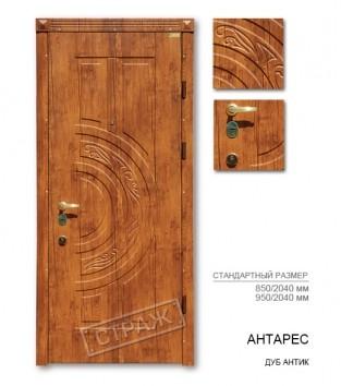 """Входные двери """"Страж"""" PRESTIGE. Модель Антарис, цвет дуб антик."""