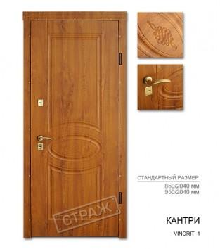 """Входные двери """"Страж"""" STABILITY. Модель Кантри vinorit 1"""