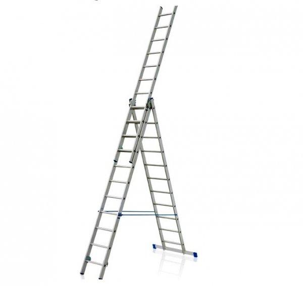 Лестница алюминиевая трехсекционная Elkop VHR Hobby 3x11 ступеней