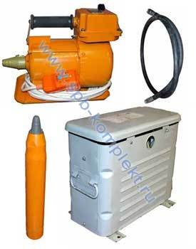 Вибратор электромеханический глубинный ручной с гибким валом ВИ (ИВ) - 117(42в. , 220в. )