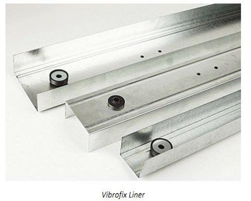 Фото  1 Направляющий профиль звукоизоляционный Vibrofix Liner 50 1402701