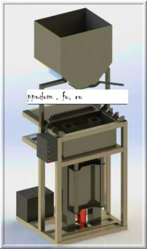 Вибропресс для изготовления блоков из полистиролбетона Оснащенный гидроприводом и загрузочным бункером