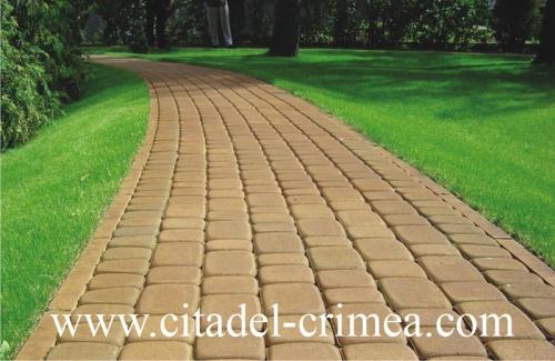 Вибропрессованная тротуарная плитка Старый Львов толщиной 4 см в Крыму