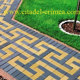 Вибропрессованная тротуарная плитка в Крыму толщиной 6 см