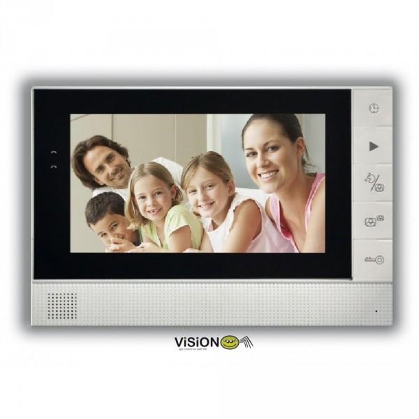 """Видеодомофонный комплект Vision S725 цветной дисплей 7"""", вызывная панель Память фото/видео"""