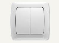 Выключатель двухклавишный Vi-Ko Carmen (белый, кремовый)