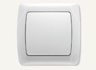 Выключатель одноклавишный Vi-Ko Carmen (белый, кремовый)