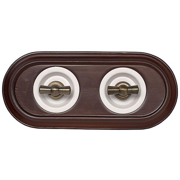 Выключатель поворотный проходной ретро электрика для внутреннего монтажа - элитная электрика, винтаж