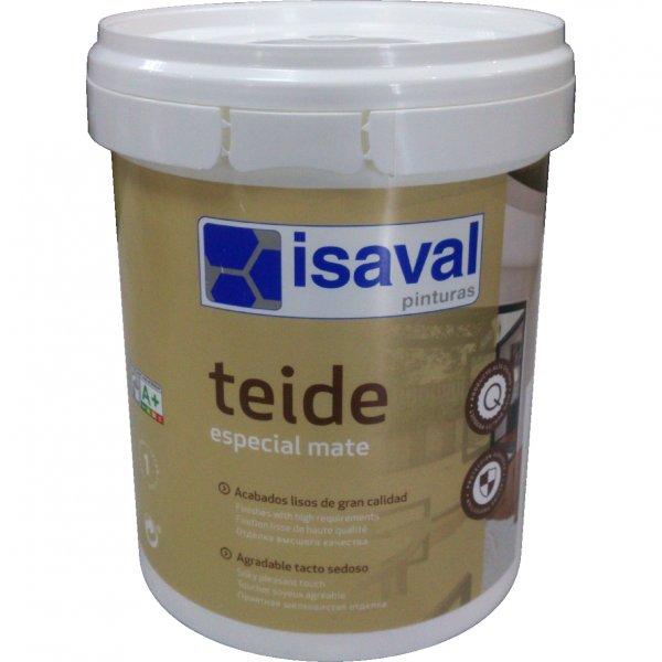 Фото  1 Матовая краска для стен и потолков Тейде ISAVAL 1л - до 12м2 1851205