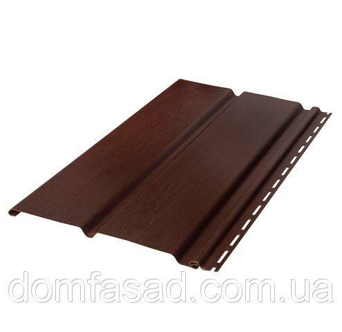 Фото  1 Виниловый соффит панель коричневая сплошная 1931379