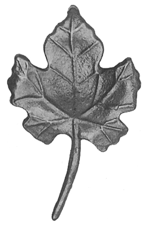 Виноградный лист 52.201 (125 х 75 [мм])