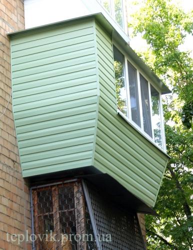 Вынос балкона продлением пола