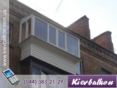 Вынос балкона с металлическим парапетом (сварка) (в стоимость входит материал и работа)