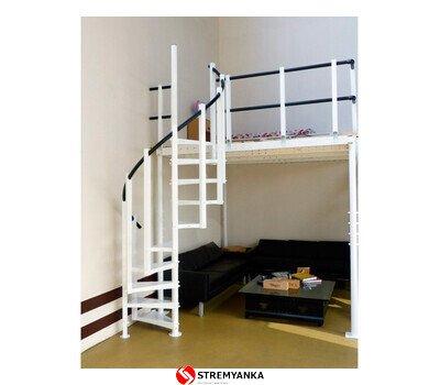 Фото  1 Винтовая лестница для мезонина SVELT T15 белая 2236556