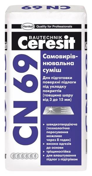 Выравнивающий раствор CN-69, 25кг