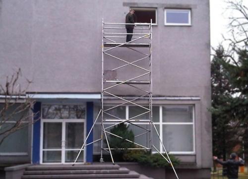 Вышку-туру можно купить алюминиевую и металлическую, любой высоты в нашей компании в Киеве, Донецке, Симферополе и др.