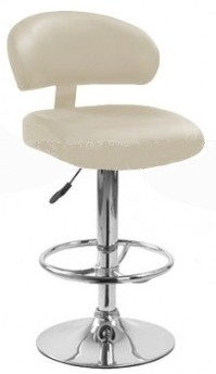 Высокий барный стул HY 338-1 бежевый, черный Киев, купить барные стулья HY 338-1 для барных стоек кафе