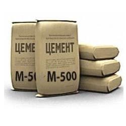 Высокопрочный цемент (М 500). Применяется при приготовлении бетона, плит перекрытий.