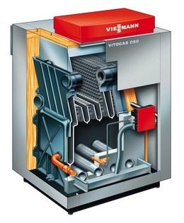 Vitogas 100-F 29-60 кВт Низкотемпературный газовый водогрейный котел Номинальная тепловая мощность: 29 - 60 кВт
