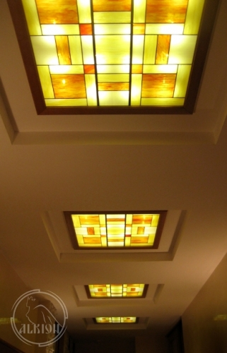 Витражи в подвесной потолок 1