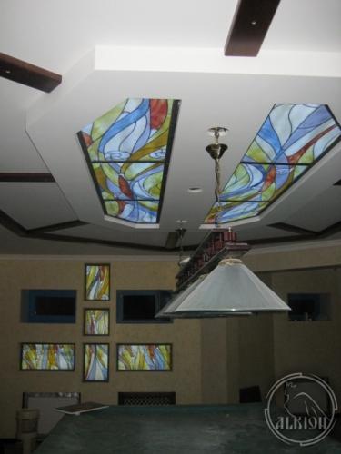Витражи в подвесной потолок 12