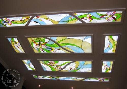 Витражи в подвесной потолок 27