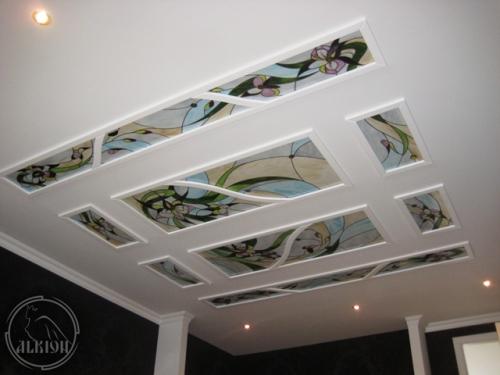 Витражи в подвесной потолок 42