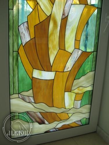 Витражи в стеклопакетах для метеллопластиковых конструкций 2