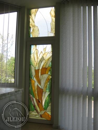 Витражи в стеклопакетах для метеллопластиковых конструкций 1