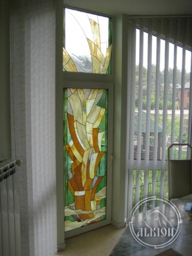 Витражи в стеклопакетах для метеллопластиковых конструкций 4