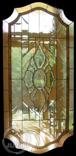 Витражи в стеклопакете во входных дверях 2