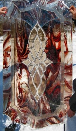 Витражи в стеклопакете во входных дверях 3