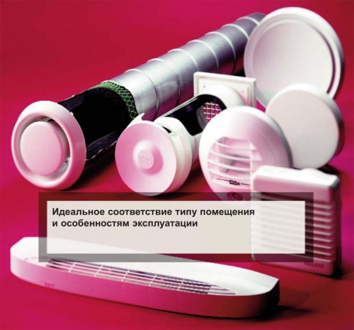 Вытяжные, приточные элементы подачи наружного воздуха и тарельчатые клапаны