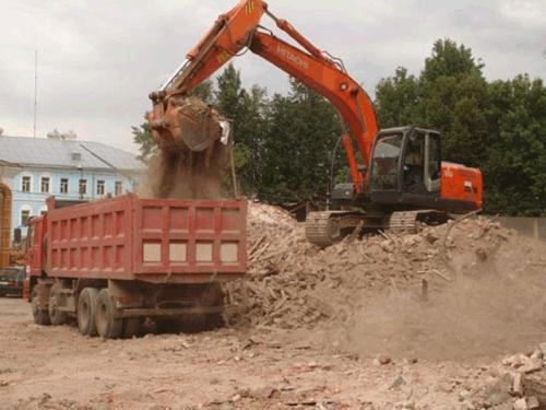 Вывоз строительного мусора в виде стекла, битого кирпича, земли, глины, бетона, досок, и т. д.