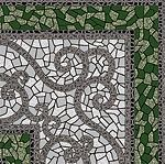 Византия зеленый 300х300размер, мм (доставка)