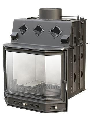 Вклад каминный, призматическая дверка PL-190. Непрерывное горение. Гарантия 5 лет.