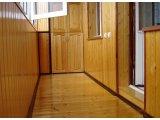 Фото  1 Внутренняя отделка балкона вагонкой деревянной 2358214