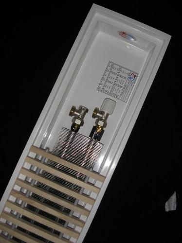 Внутрипідложні конвектор (радіатор ) TM Fancoil c природною конвекцією , корпус зі склопластику (гарантія 50 років)